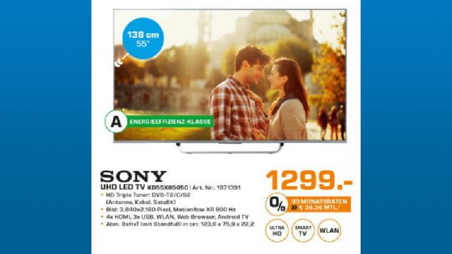 Sony KD-55X8505C ©Saturn