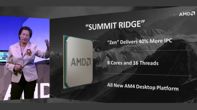 AMD Summit Ridge © AMD via Twitter
