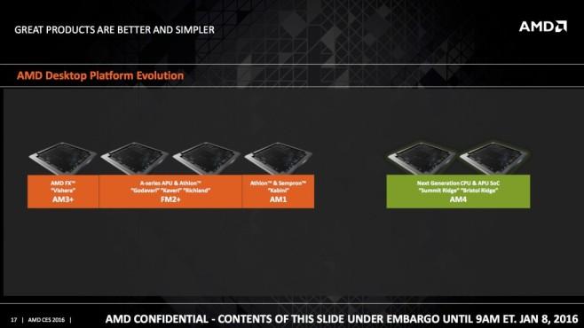 AMDs neue Ridge-Familie ©AMD