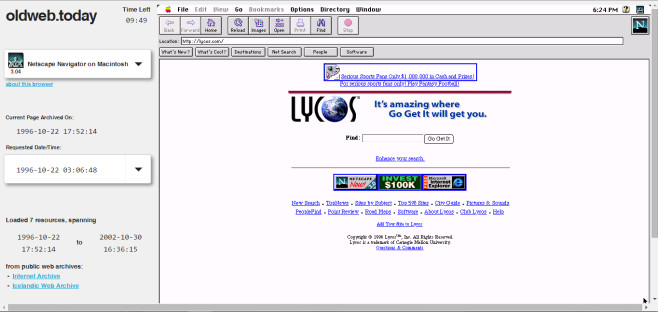 lycos.com 1996 © oldweb.today