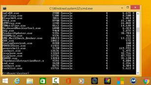 Windows 7/8/10: Auslastung einzelner Programme beobachten Welche Programme laufen mit? Mehrere Werkzeuge schaffen Klarheit, im Beispiel die Kommandozeile. ©COMPUTER BILD