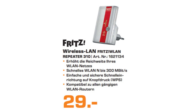 AVM FRITZ!WLAN Repeater 310 © Saturn