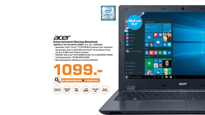 Acer Aspire V15 V5-591G-70S6 ©Saturn