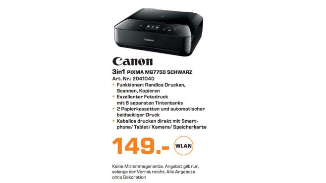 Canon PIXMA MG7750 ©Saturn