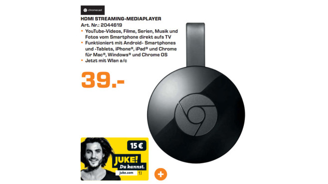 Google Chromecast 2 © Saturn