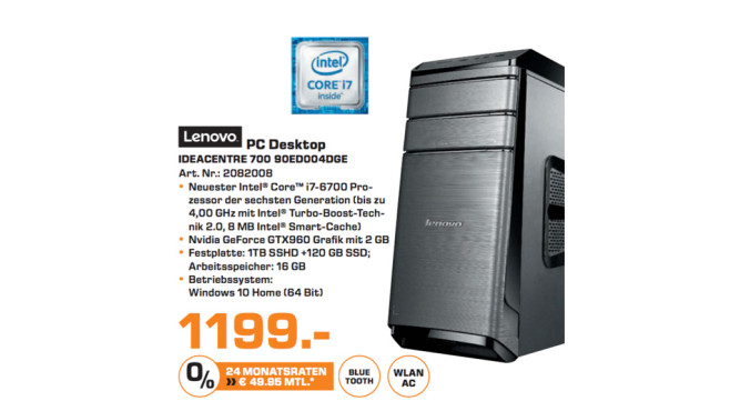 Lenovo IdeaCentre 700 90ED004DGE © Saturn