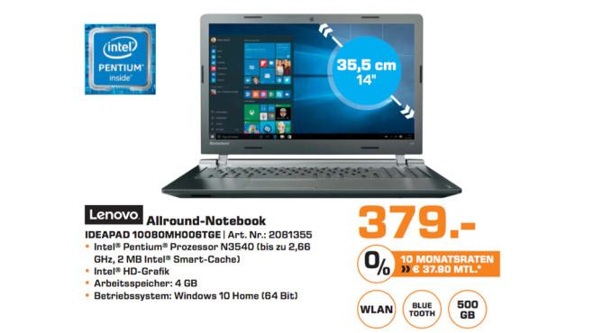 Lenovo IdeaPad 100 80MH006TGE ©Saturn