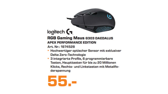 Logitech G303 Daedalus Apex Performance Edition © Saturn