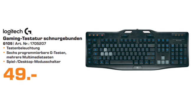 Logitech Gaming Keyboard G105 DE © Saturn