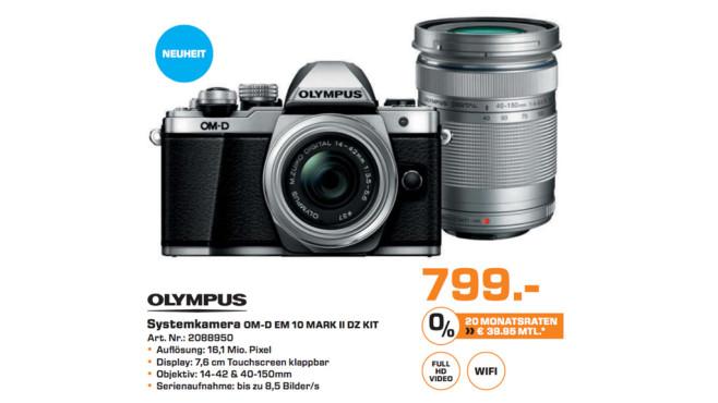 Olympus OM-D E-M10 Kit 14-42 mm EZ + 40-150 mm silber/silber ©Saturn