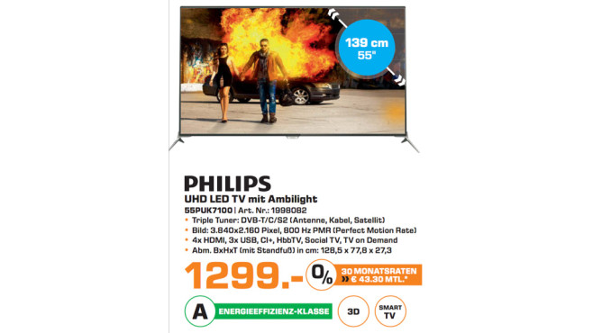 Philips 55PUK7100 © Saturn