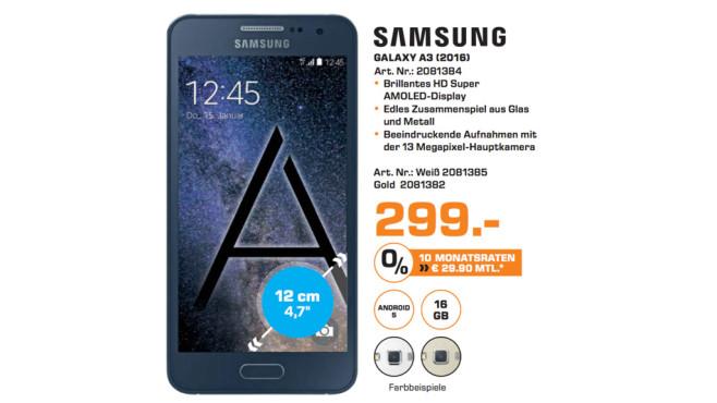 Samsung Galaxy A3 (2016) ©Saturn