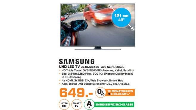 Samsung UE48JU6450 ©Saturn