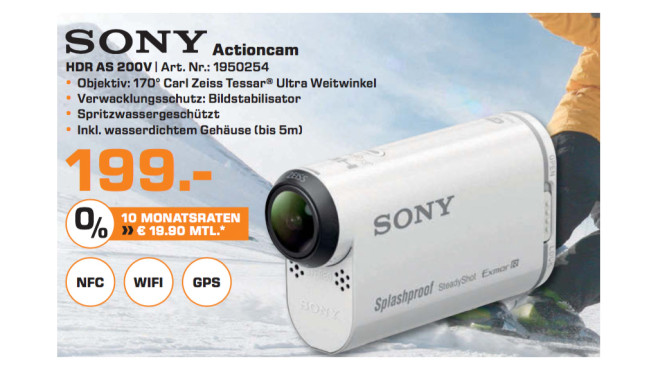 Sony HDR-AS200V Standard Edition © Saturn