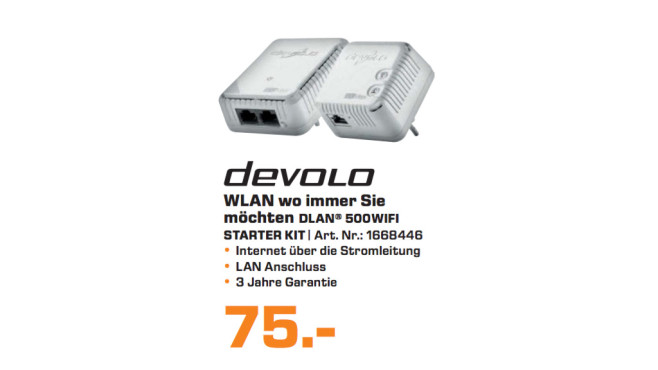 devolo dLAN 500 WiFi Starter Kit © Saturn