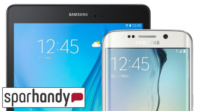 Schnäppchen: Galaxy S6 und Tab A mit Allnet-Flat ©Samsung, Sparhandy
