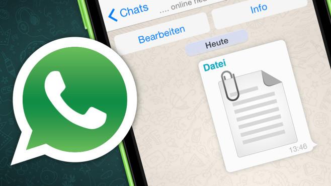 WhatsApp-Dateiversand ©COMPUTER BILD