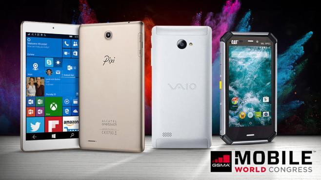 MWC 2016: Smartphone-Exoten ©Pixi, Sony Vaio, CAT, Lukas Gojda � Fotolia.com, dimashiper � Fotolia.com