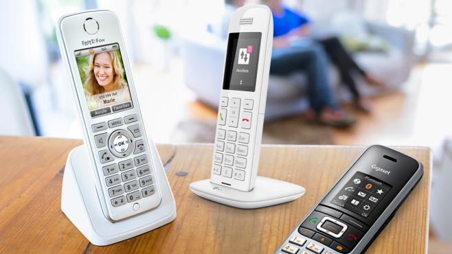 Schnurlose Telefone ©AVM, Telekom, Gigaset