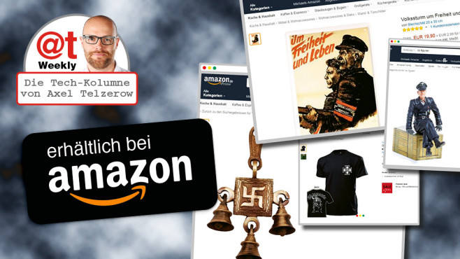 Amazon, Nazi-Artikel © Amazon, COMPUTER BILD