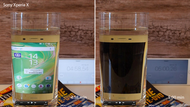 Sony Xperia X: Nicht wasserfest ©COMPUTER BILD