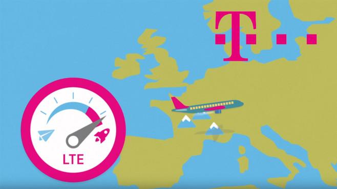 LTE im Flugzeug ©Telekom