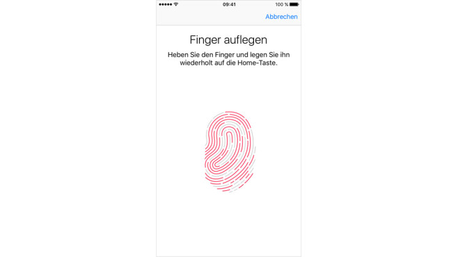 WhatsApp 2016: Touch-ID-Start © Apple