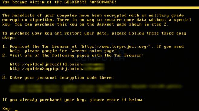 Goldeneye Ransomware ©COMPUTER BILD