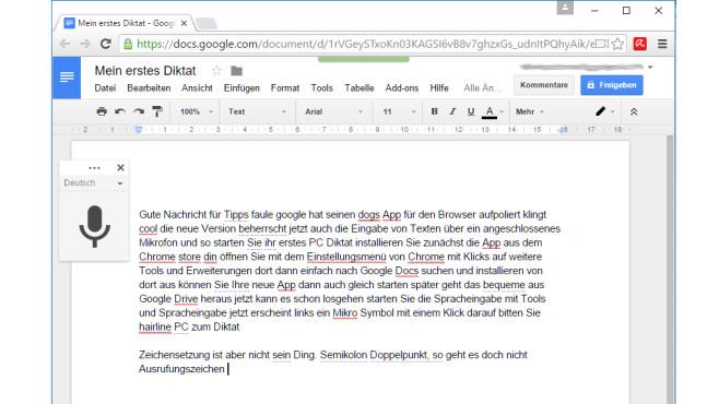 Das erste PC-Diktat ©Google, COMPUTER BILD