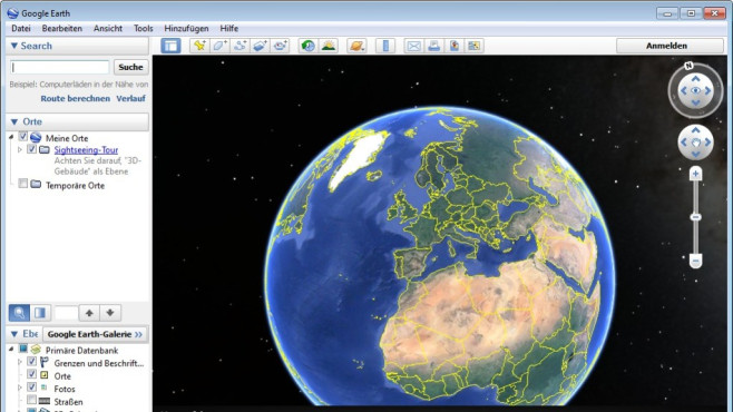 Platz 5: Google Earth © COMPUTER BILD