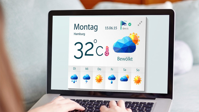 Das Wetter im Netz ©macrovector – Fotolia.com, ©istock.com/Neurostockimages