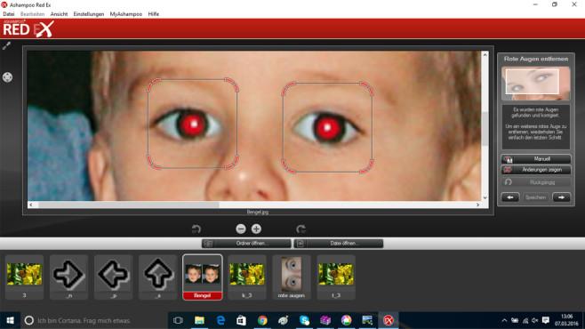 Ashampoo Red Ex – Kostenlose Vollversion: Rote Augen entfernen ©COMPUTER BILD