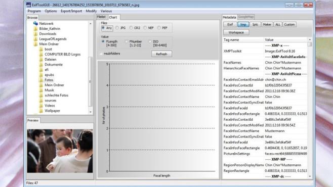 ExifToolGUI: Interne Meta-Daten bearbeiten ©COMPUTER BILD
