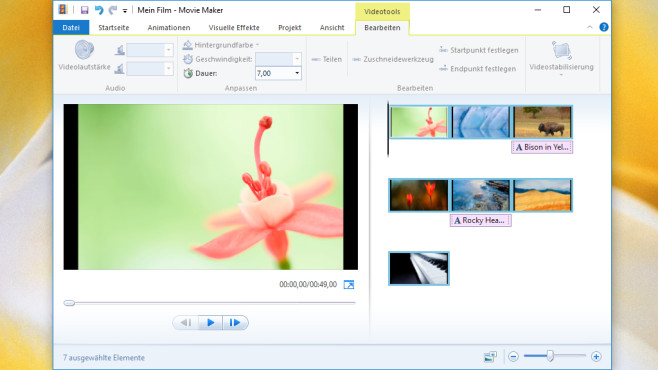 Windows Movie Maker: WMV-Diashows erzeugen © COMPUTER BILD