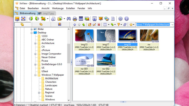 XnView: Grafikverwalter mit Registerkarten ©COMPUTER BILD
