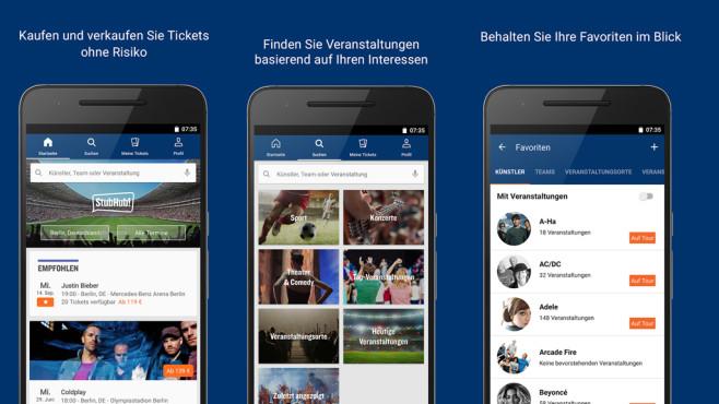 StubHub: App f�r Android und iOS ©StubHub