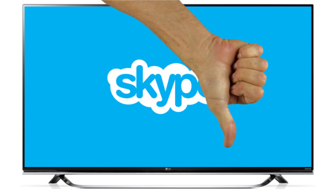 Skype Smart-TV ©LG, Skype, WerbeFabrik � Pixabay.com