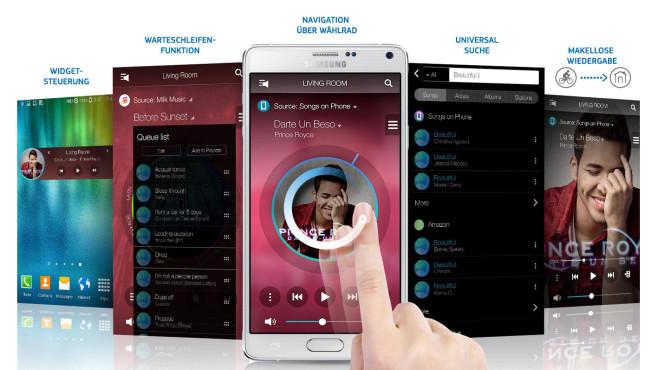 Samsung Multiroom Link App ©Samsung