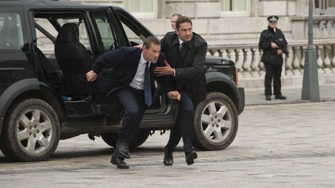 Szene aus London Has Fallen: Aaron Eckhart, Gerard Butler ©Universum Film GmbH