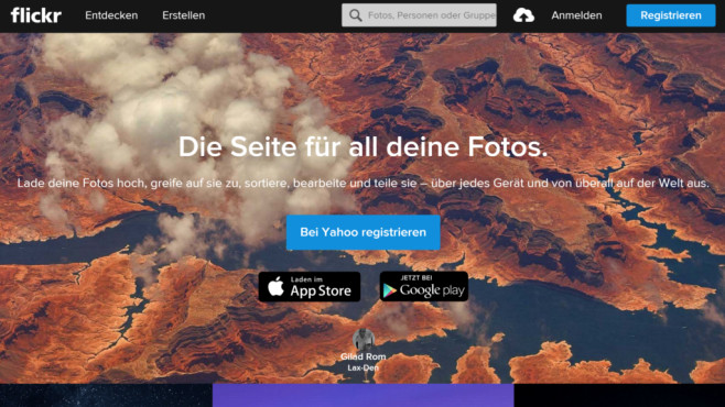 Screenshot Flickr © COMPUTER BILD