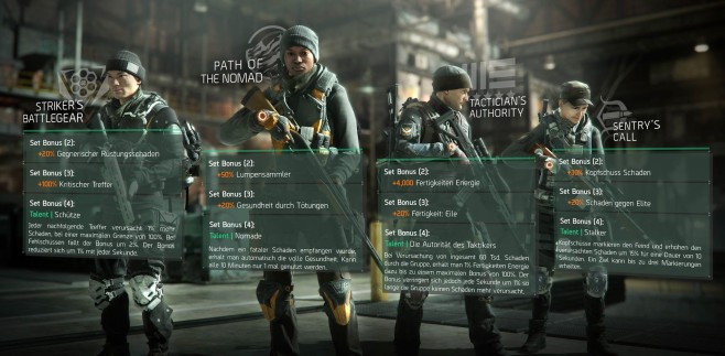 The Division: Gear Sets © Ubisoft
