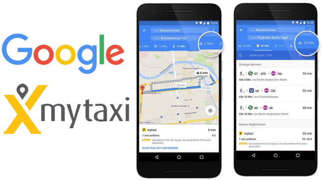 Google Maps mit mytaxi ©Google