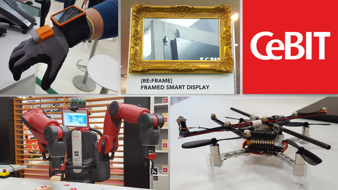 CeBIT 2016: Gadget-Highlights © CeBIT, COMPUTER BILD, Fokusgruppe Intelligente Vernetzung, Re:Frame, DFKI, Hochschule RheinMain