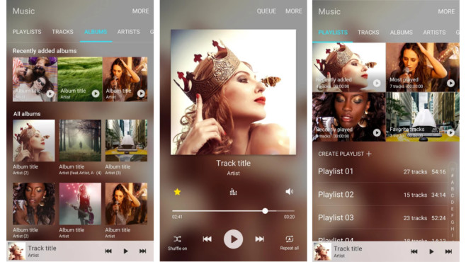 Samsung Music ©Samsung, Google