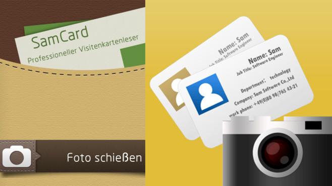 Visitenkarten einscannen ©SamTeam, Montage: COMPUTER BILD