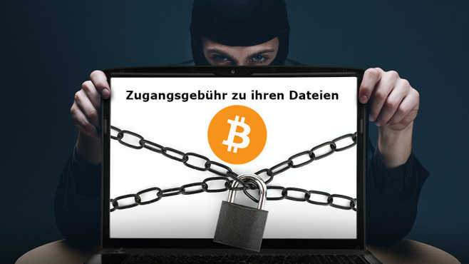 Ransomware: Lösegeld für Ihre Dateien ©Amir Kaljikovic - Fotolia.com, viperagp - Fotolia.com, Bitcoin