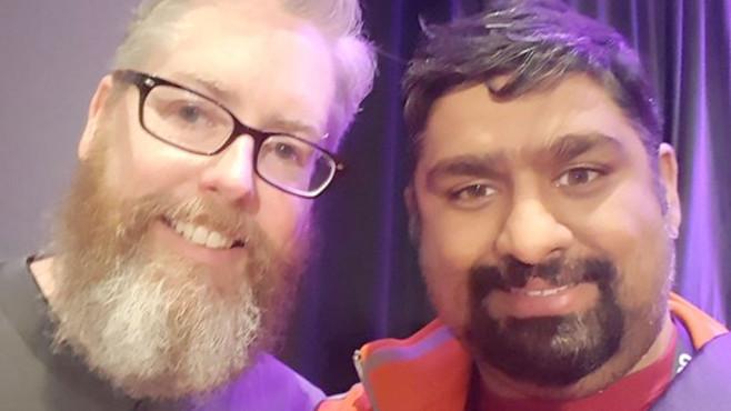 David Brevik und Shivam Bhatt ©Shivam Bhatt / Twitter.com