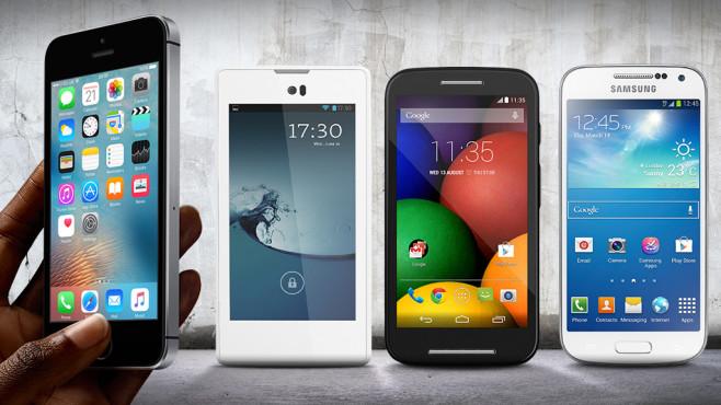 iPhone SE: Alternativen ©peshkov – Fotolia.com, Eugene Sergeev – Fotolia.com, Samsung, Motorola, Yota, Apple