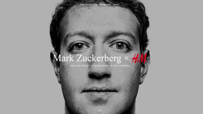 H&M Mark-Zuckerberg-Kollektion ©H&M