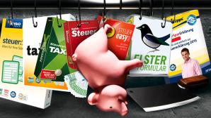Steuererkl�rung 2016 ©Getty Images, Buhl, Akademische Arbeitsgemeinschaft, Lexware, Elster/Bayerisches Landesamt f�r Steuern, Montage: COMPUTER BILD